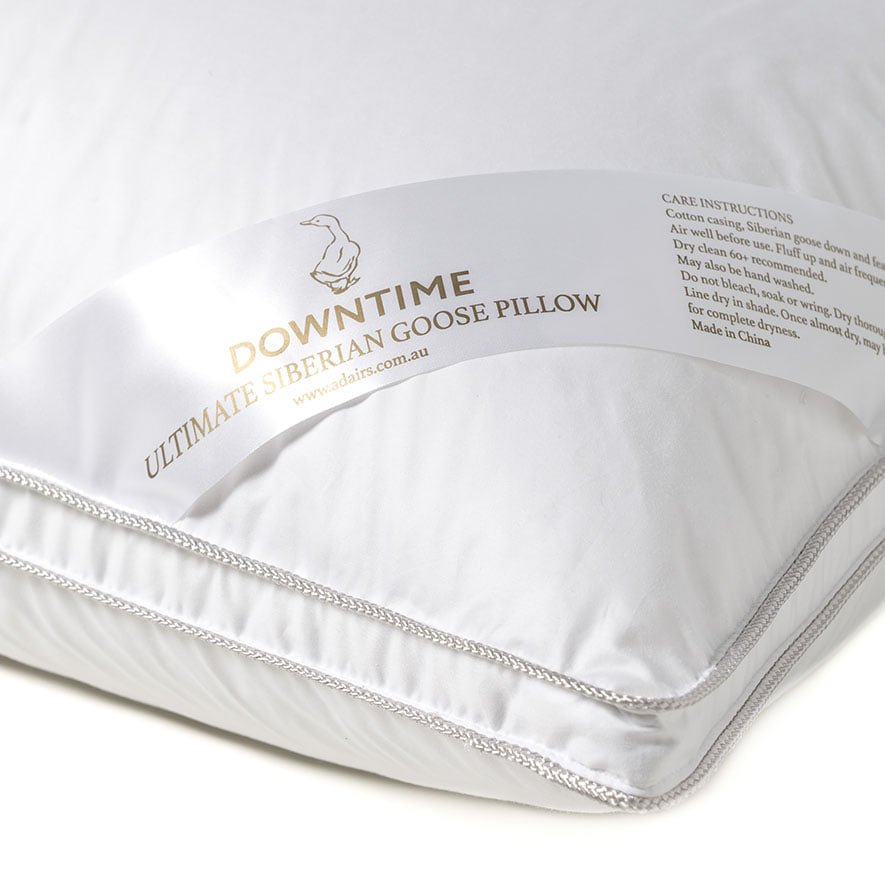 Downtime Ultimate Siberian Goose Down Pillow Bedroom
