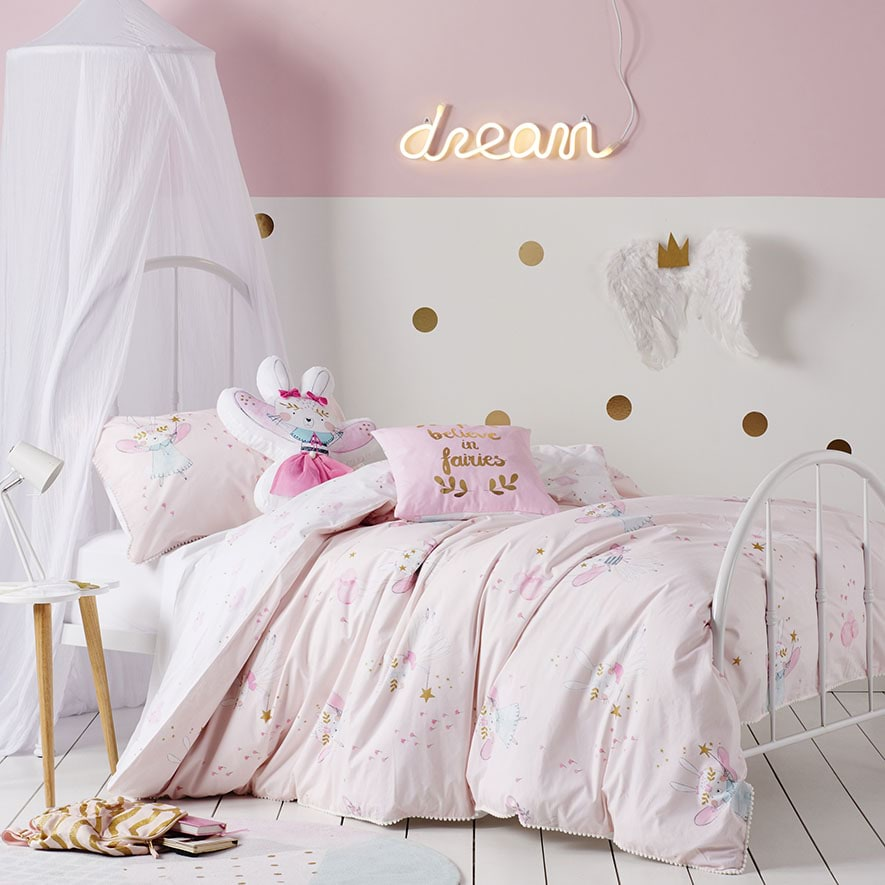 Adairs Kids - Bunny Wishes Quilt Cover Set - Bedroom Quilt ...