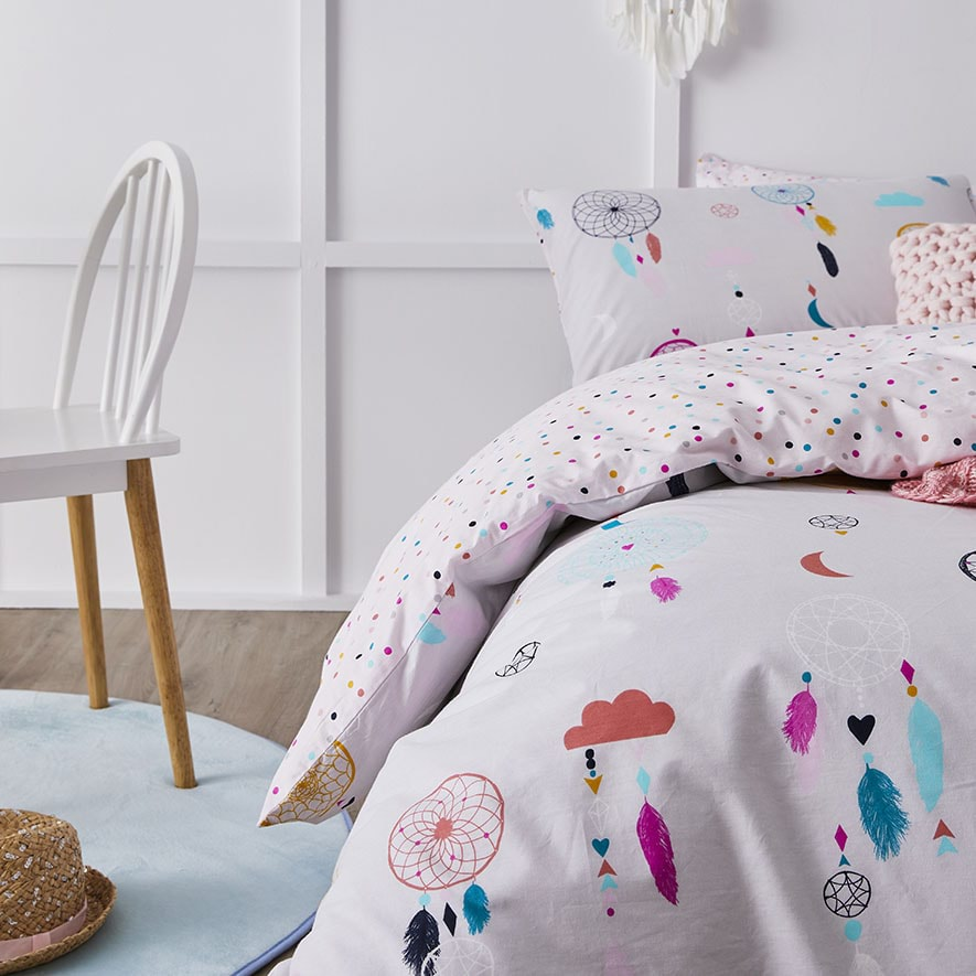 Adairs Kids Dream Catcher Quilted Quilt Cover Set