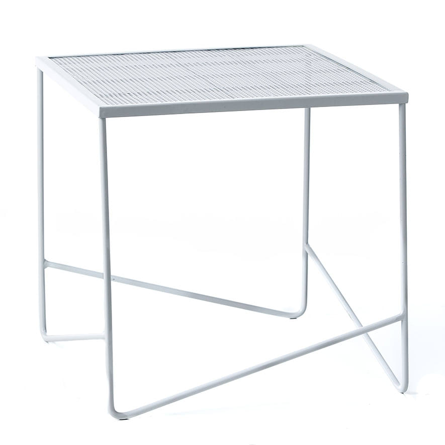 Home republic adelphi outdoor side table white for White patio table