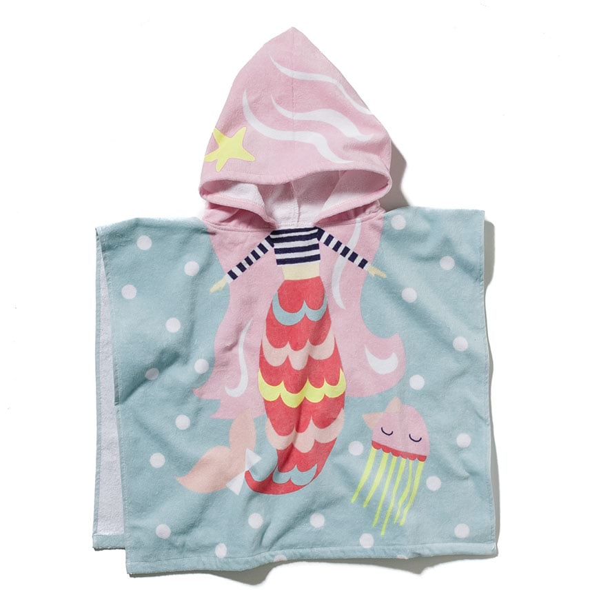 Adairs Kids Hooded Mermaid Beach Towel Home Amp Gifts