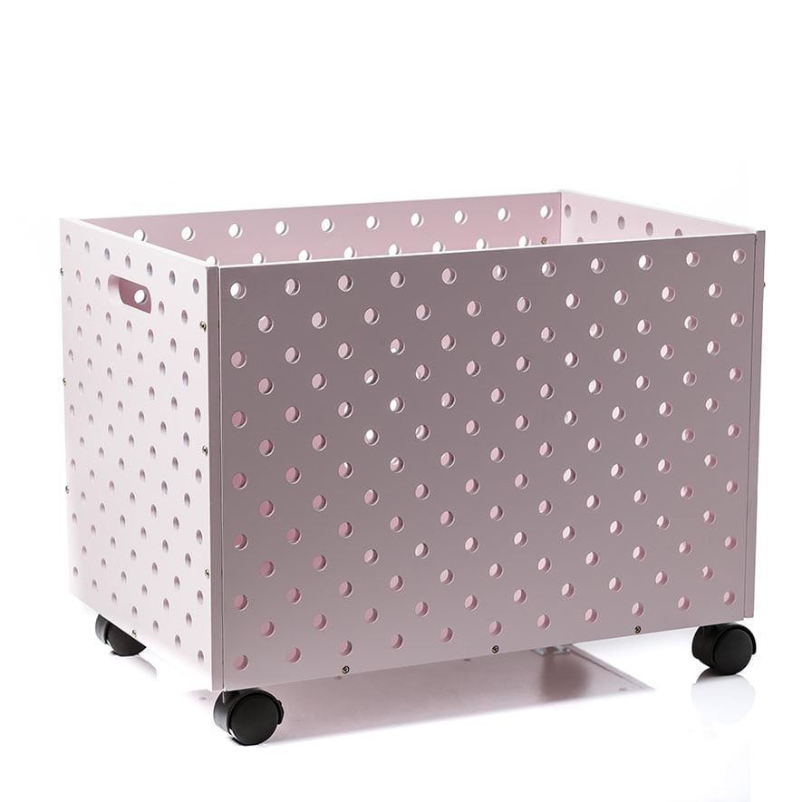 Carnival Toy Box Pink: Toy Box On Wheels Pale Pink