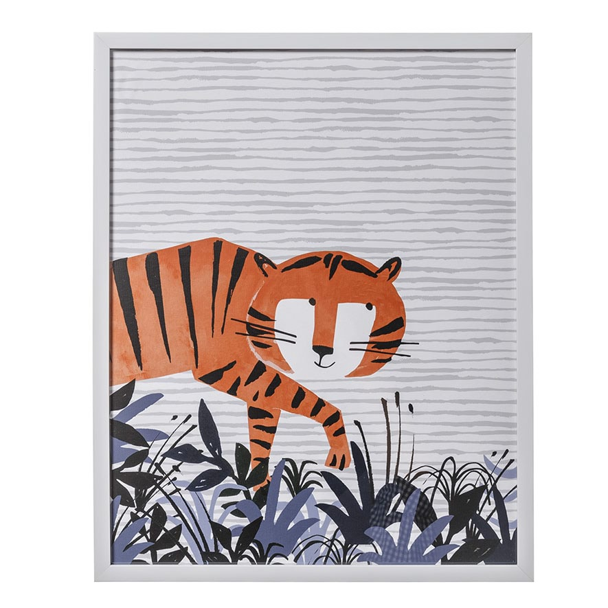 Adairs Kids Designer Wall Art Tip Toe Tiger Home Gifts Wall