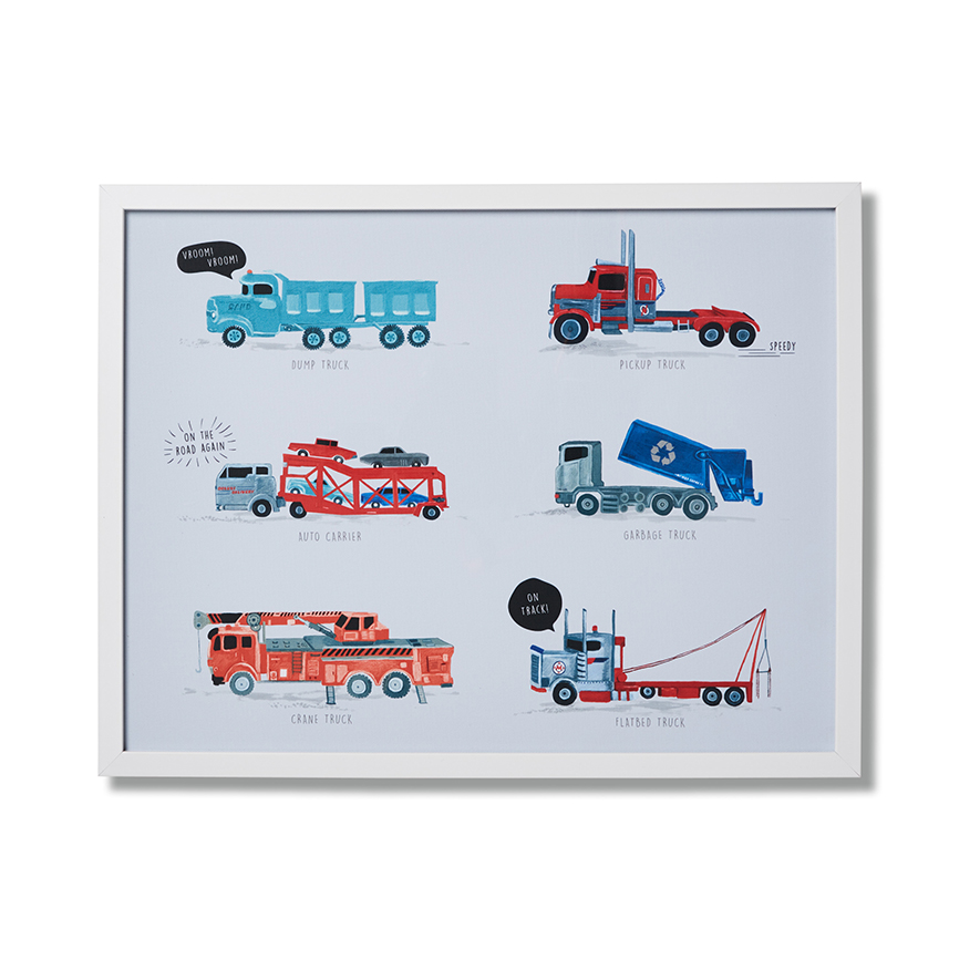 Adairs Kids - Kids Wall Art Keep On Truckin