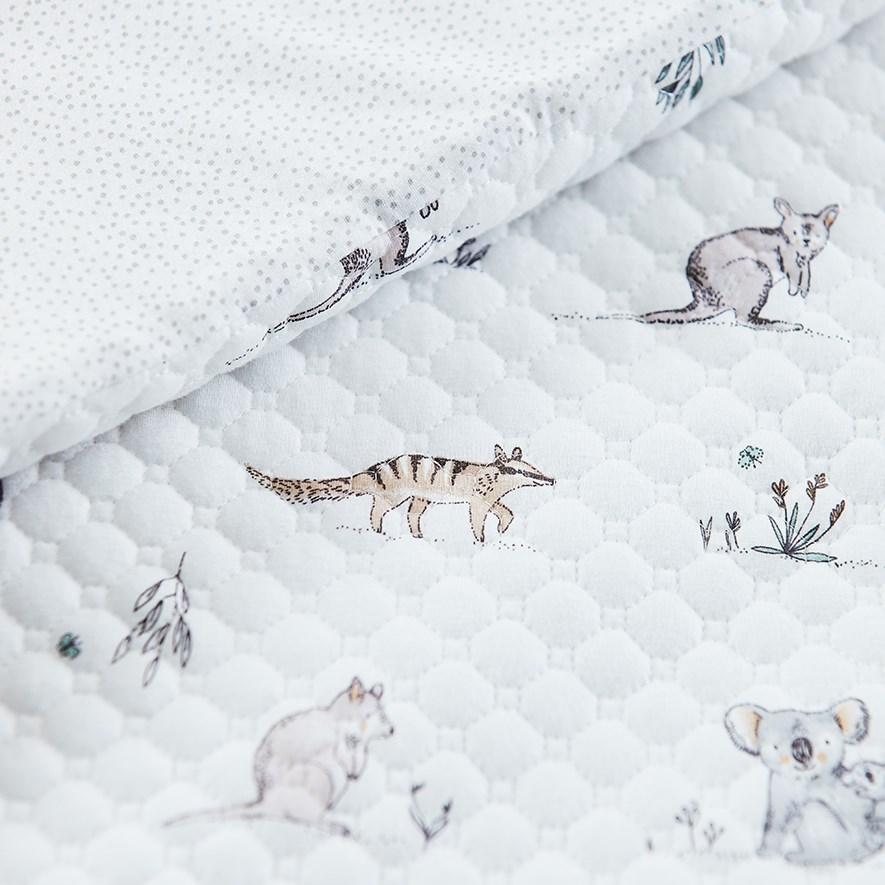 - Bush Babies Quilted Jersey Cot Quilt Cover Set   Home ...