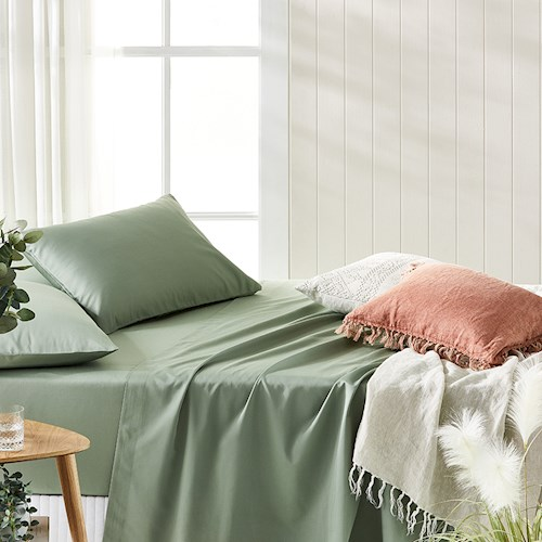 Bamboo Cotton Pistachio Sheets | Stay at Home Mum