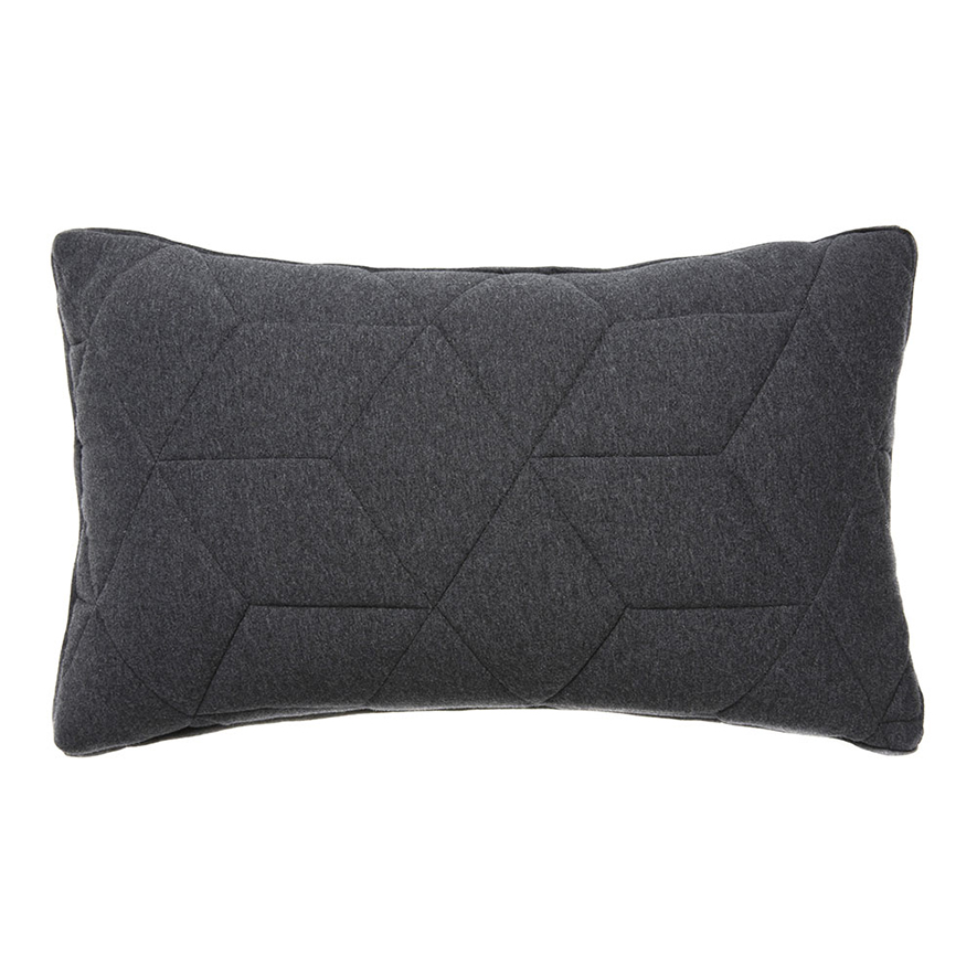Home Republic - Empire Jersey Grey Quilted Long Cushion ... : quilted cushions - Adamdwight.com