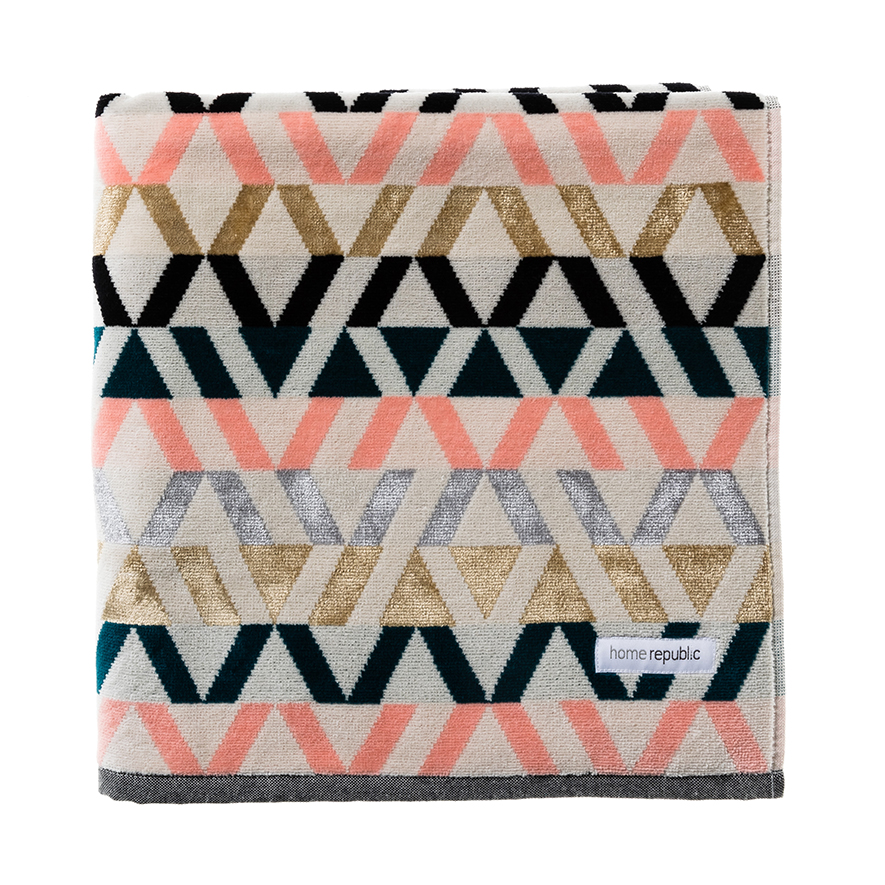 Home Republic Mali Velour Towels Gold Luxe