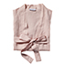 Vintage Washed Linen Bath Robe One Size Nude Pink