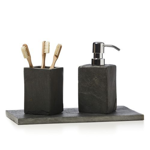 Home Republic Slate Bathroom Accessories - Slate bathroom accessories