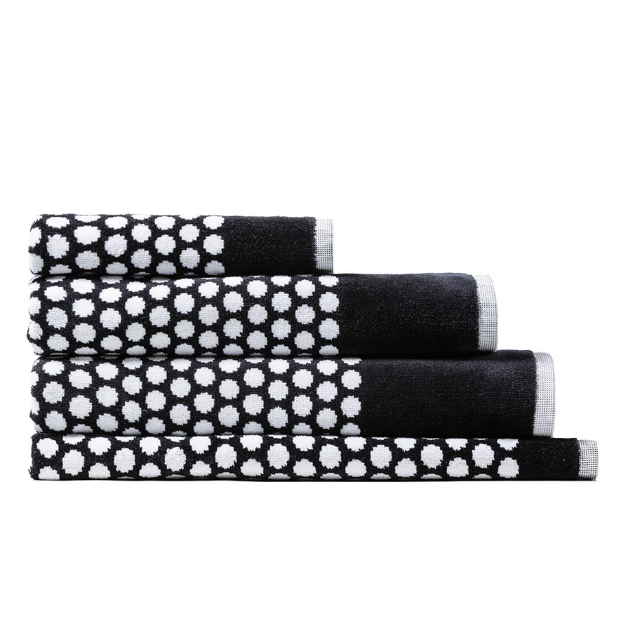 Bath Towel Sets Black And White: Eclipse Towel Black & White