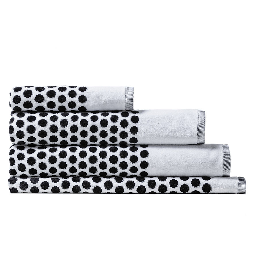 Bath Towel Sets Black And White: Eclipse Towel White Black