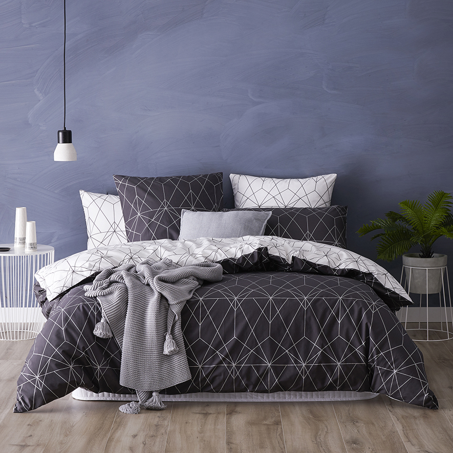 metro otto quilt cover set charcoal bedroom outlet metro