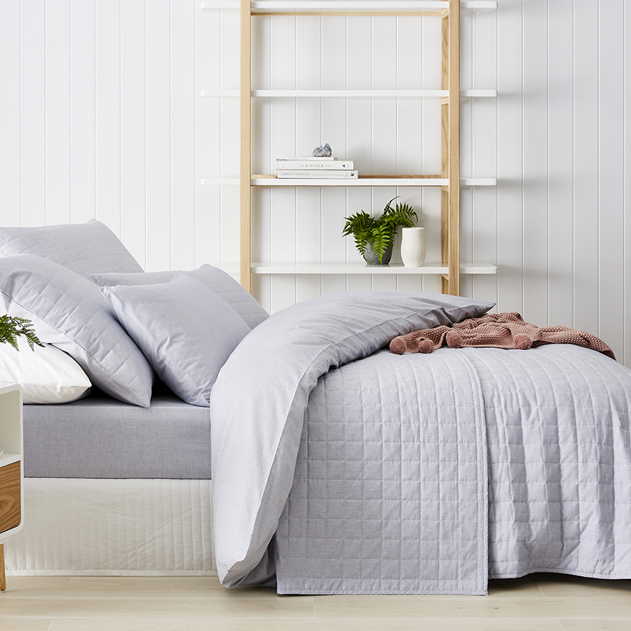 metro austin chambray coverlet denim bedroom outlet metro adairs online