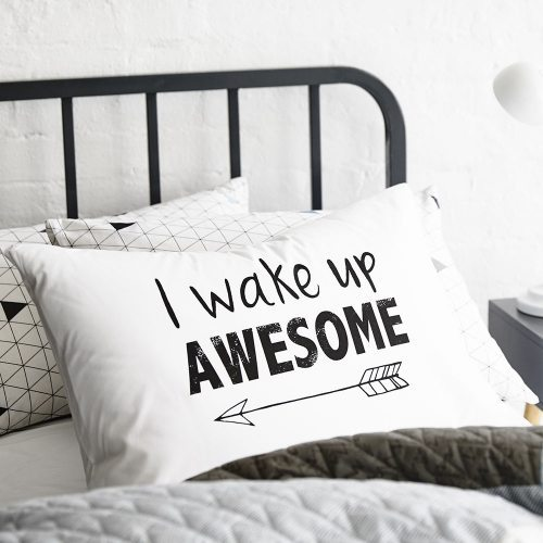 Wake Up To A Fresh Bedroom Style: Various Text Pillowcase