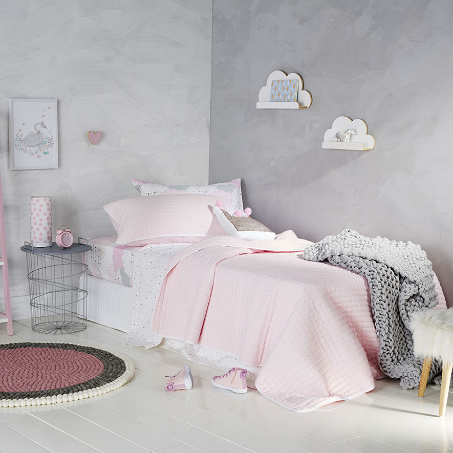 pale pink bedroom adairs princeton coverlet pale pink amp white 12784