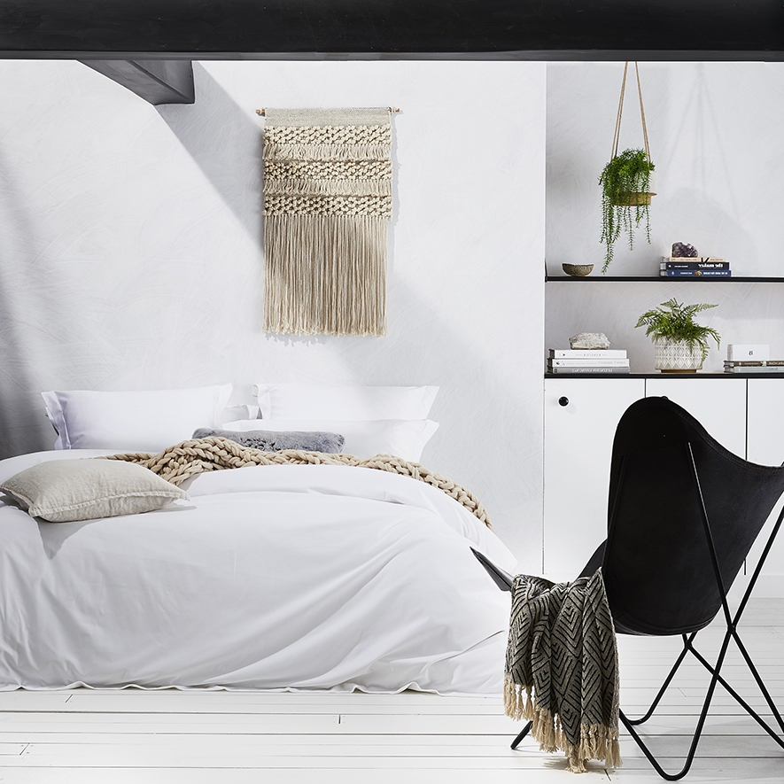 Home Republic - 600TC Cotton Bamboo Quilt Covers White - Bedroom ... : bamboo quilt - Adamdwight.com