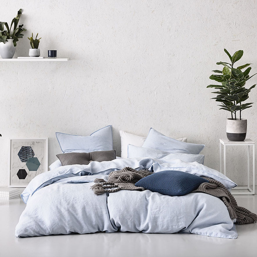 Home Republic Vintage Washed Chambray Bedroom Quilt