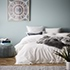 Stonewashed Tassel Cotton Quilt Cover White