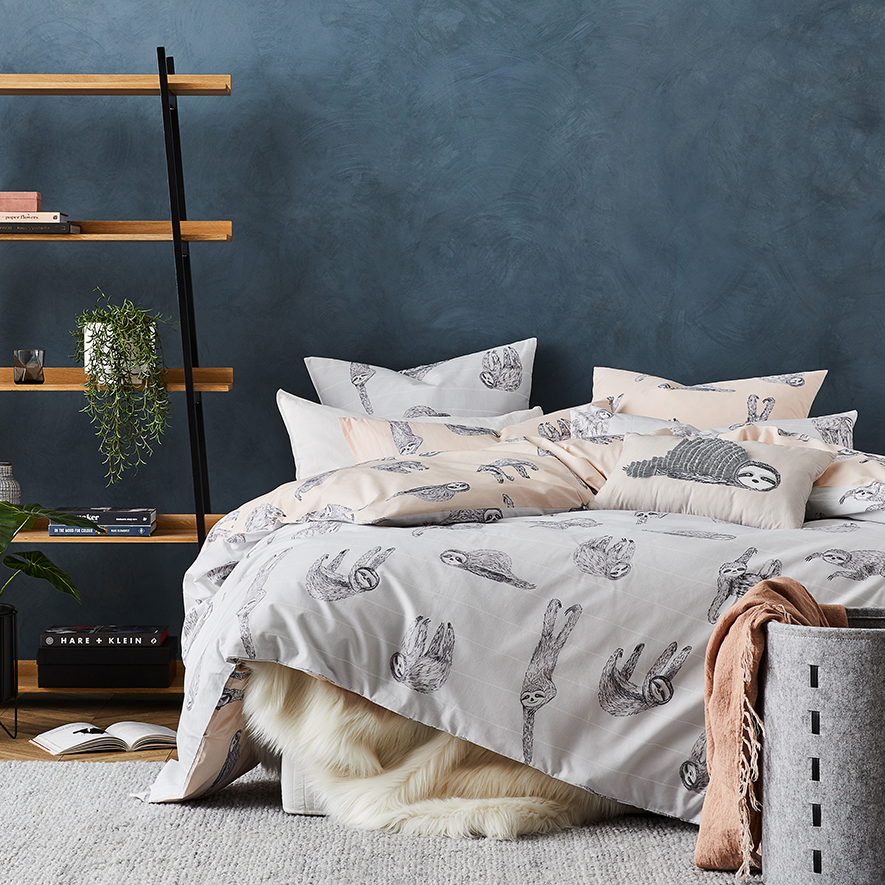 Home Republic Sidney Quilt Cover Set In Grey