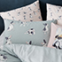 Frenchie Quilt Cover Set Sage