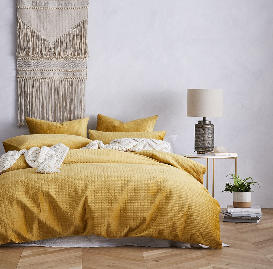 Mustard Yellow Duvet Cover Sweetgalas