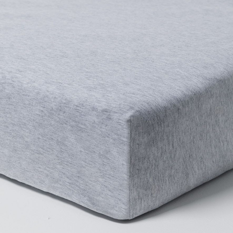 Ultra Soft Jersey Fitted Sheet 2 Pack Marle Grey