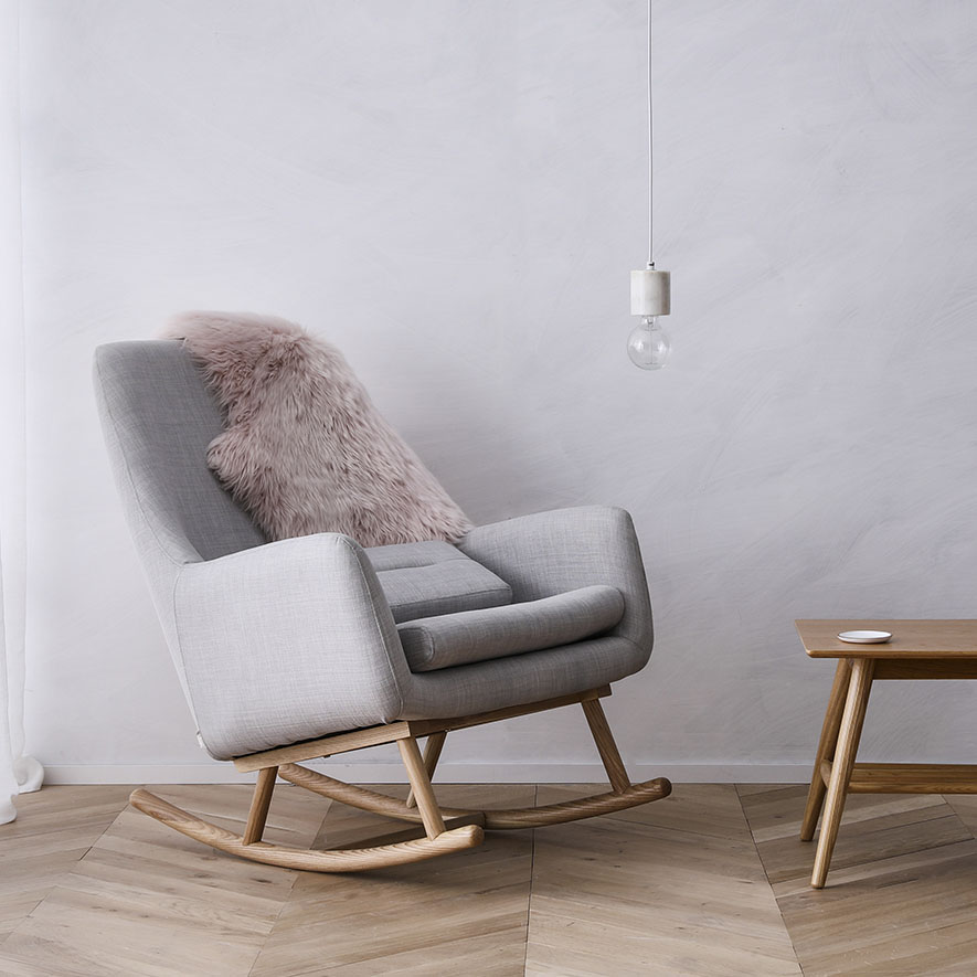 Home Republic Norse Rocking Chair Grey Furniture