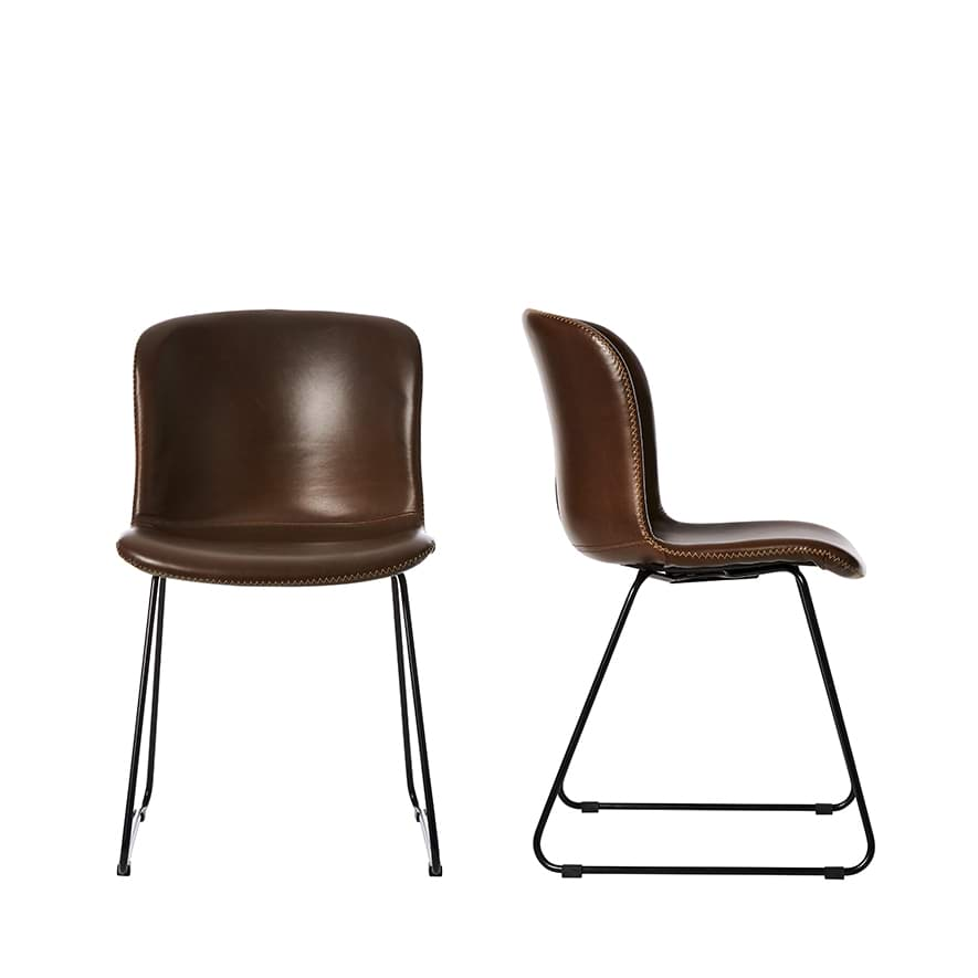 Home Republic Orlando Dining Chairs Set Of 2 In Brown