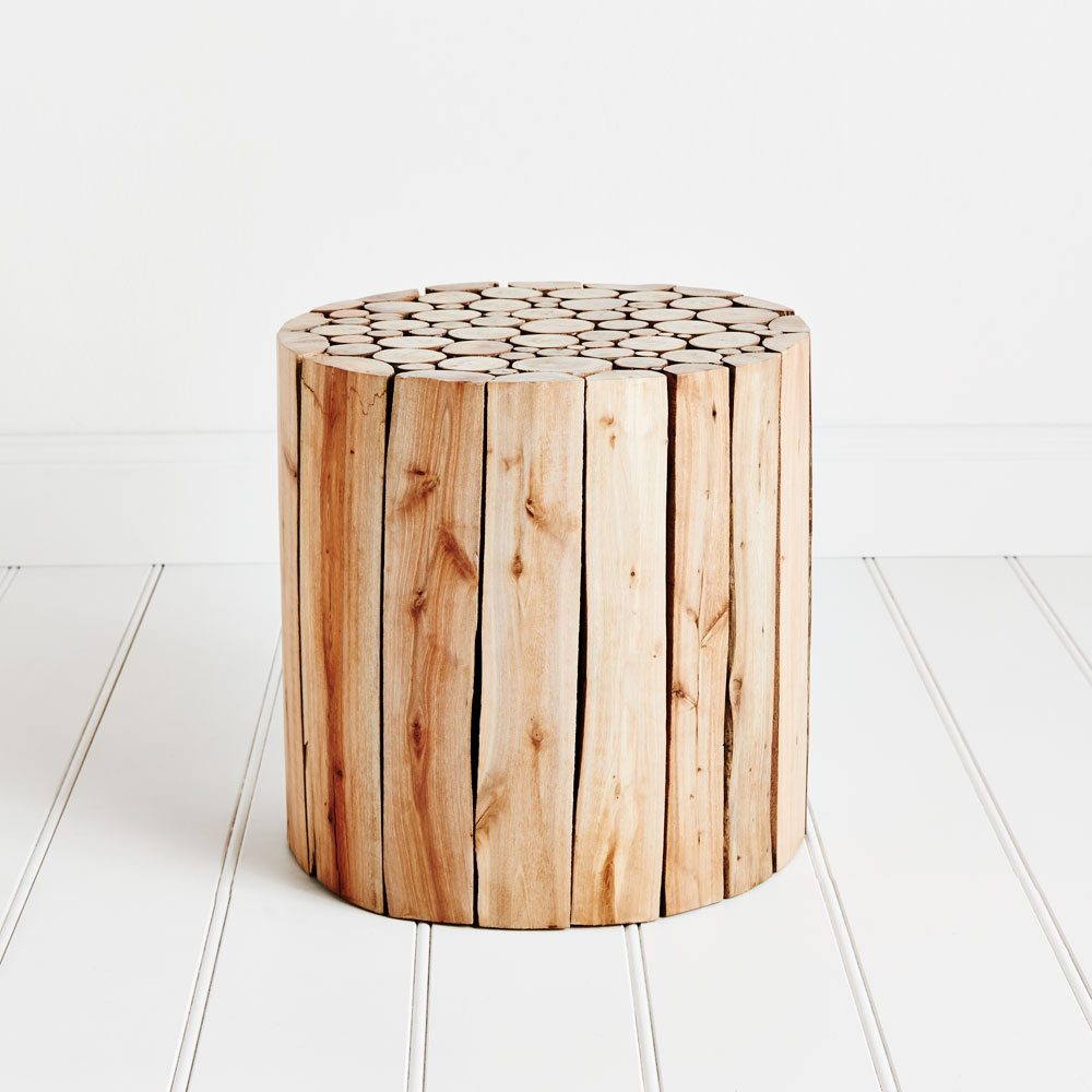 Home Republic - Eucalyptus Wood Side Table - Furniture Side Tables ...