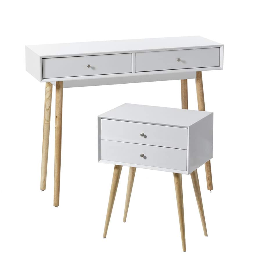Home Republic Fitzroy Side Table White Furniture Side Tables Adairs Online