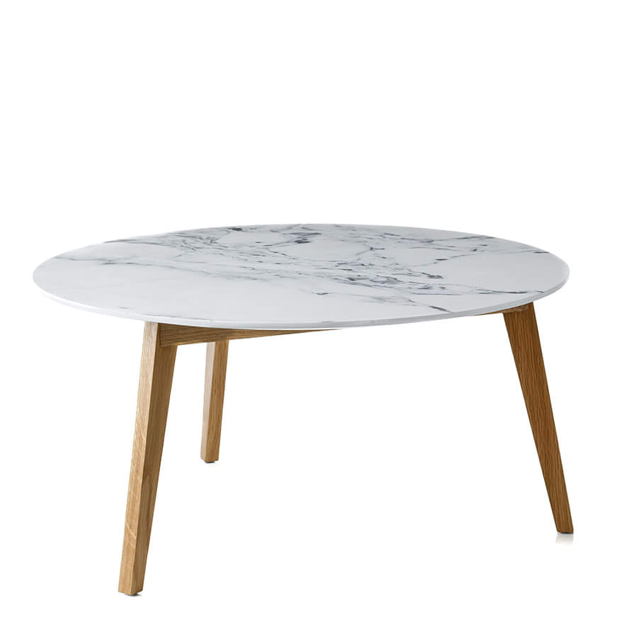 Home Republic Dane Coffee Table Marble Furniture Side Tables - Marble and wood side table