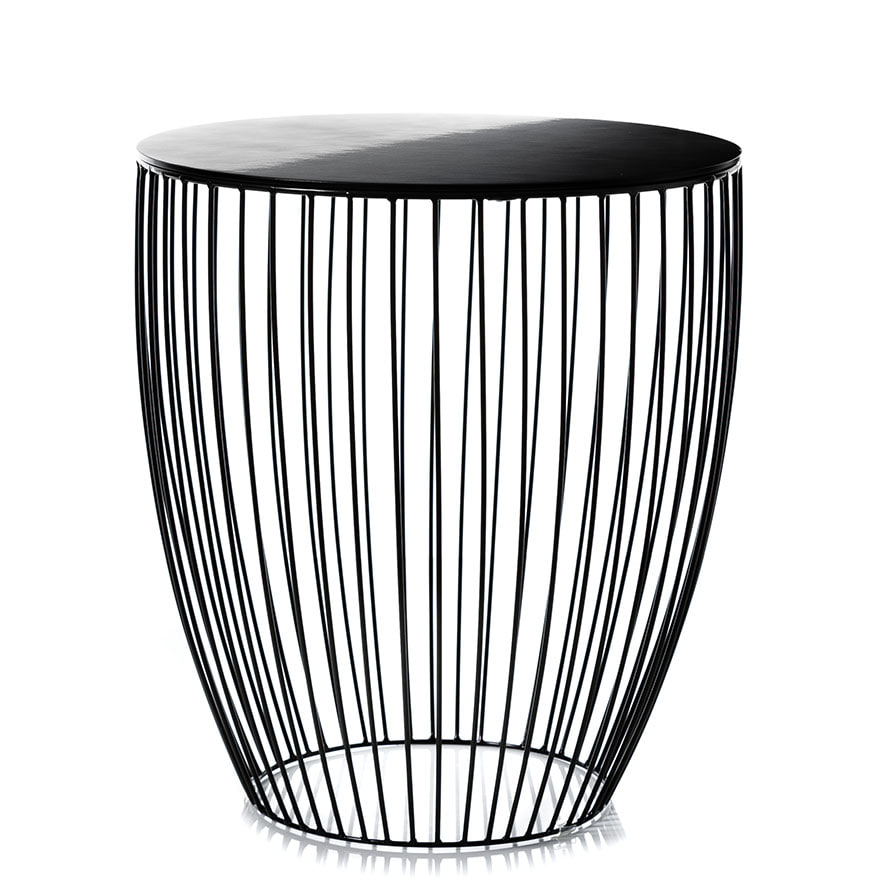 Home Republic Element Round Side Table Black Furniture Side