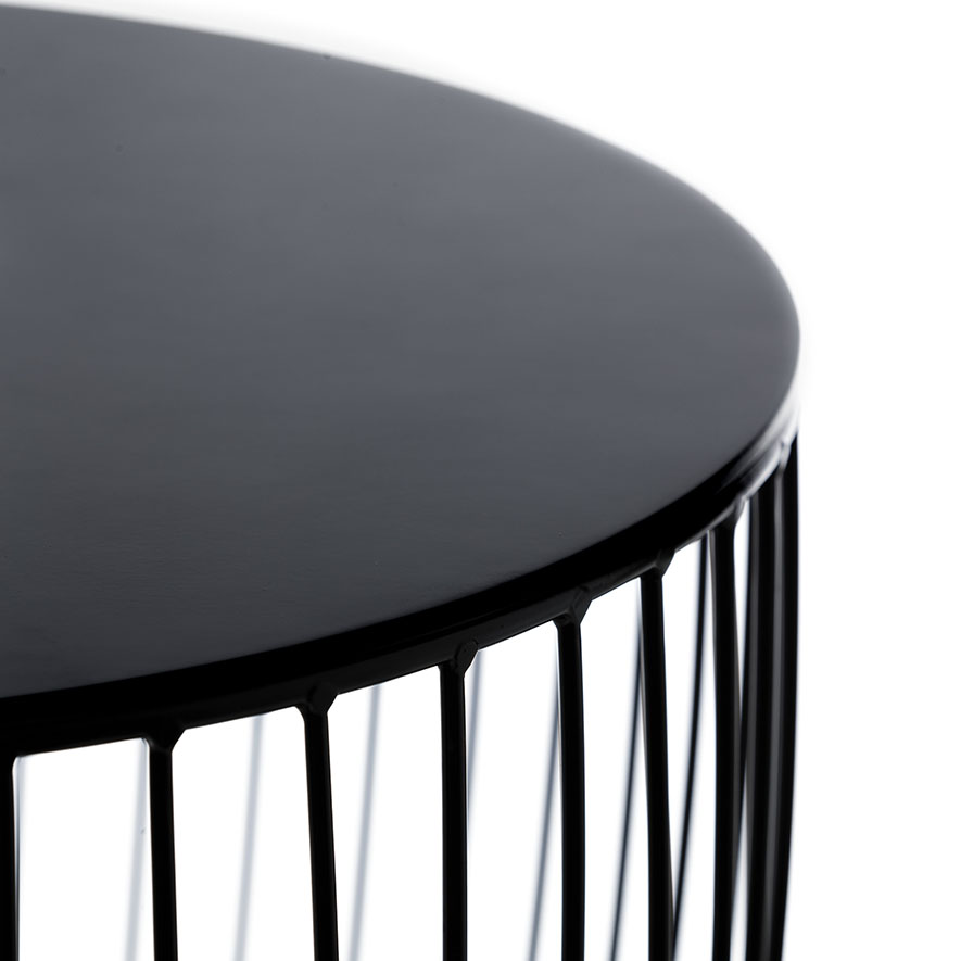 Home Republic Element Round Side Table Black Furniture Side Tables Adairs Online