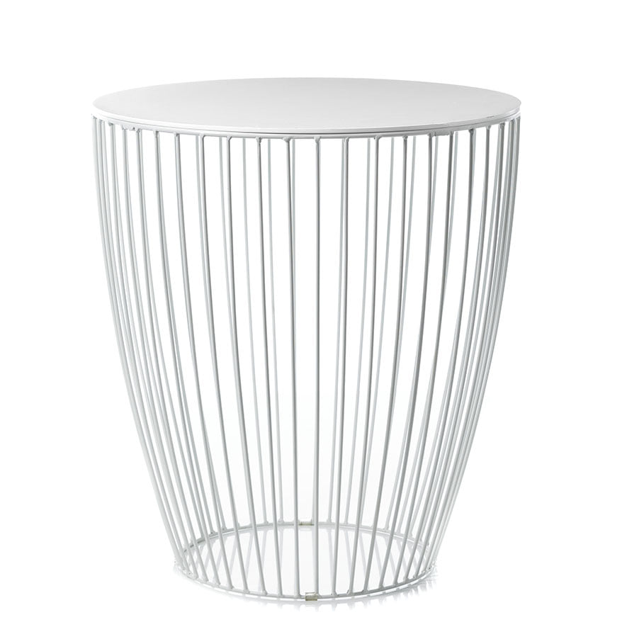 White wire side table wire center home republic element round side table white furniture side rh adairs com au white wire side greentooth Choice Image