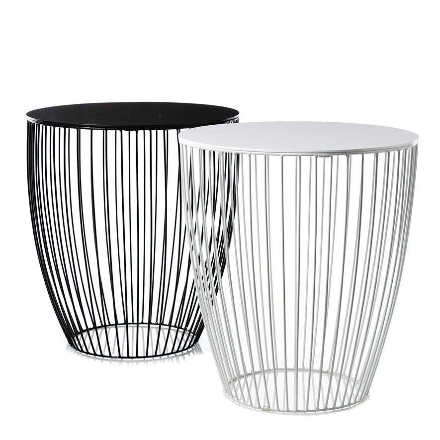 Home Republic Element Round Side Table White Furniture Side Tables Adairs Online