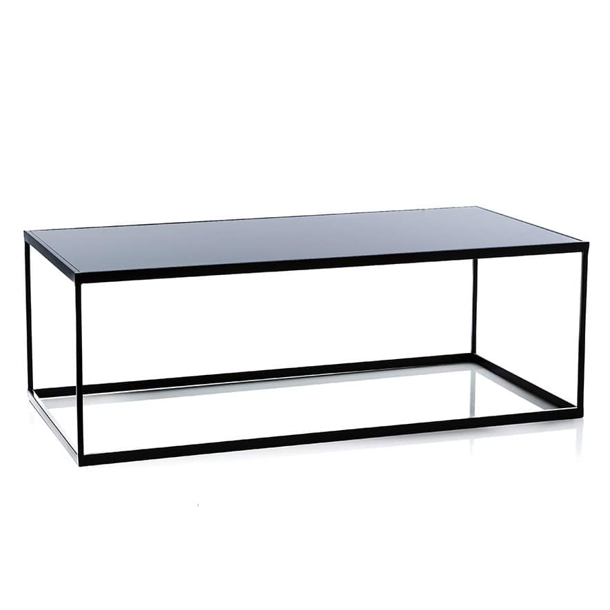 Bentley Coffee Table Black Smoked Glass