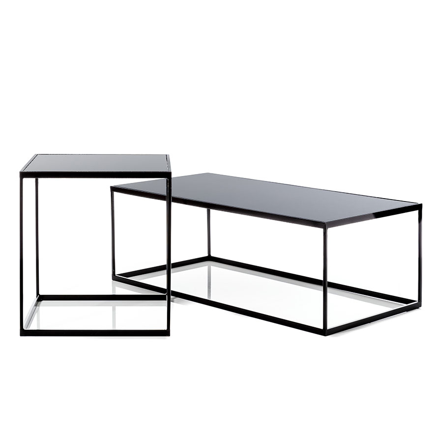 Home Republic Bentley Coffee Table Black Smoked Glass