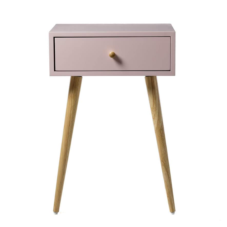 Home Republic Bay Bedside Table Blush Furniture Side Tables Adairs Online