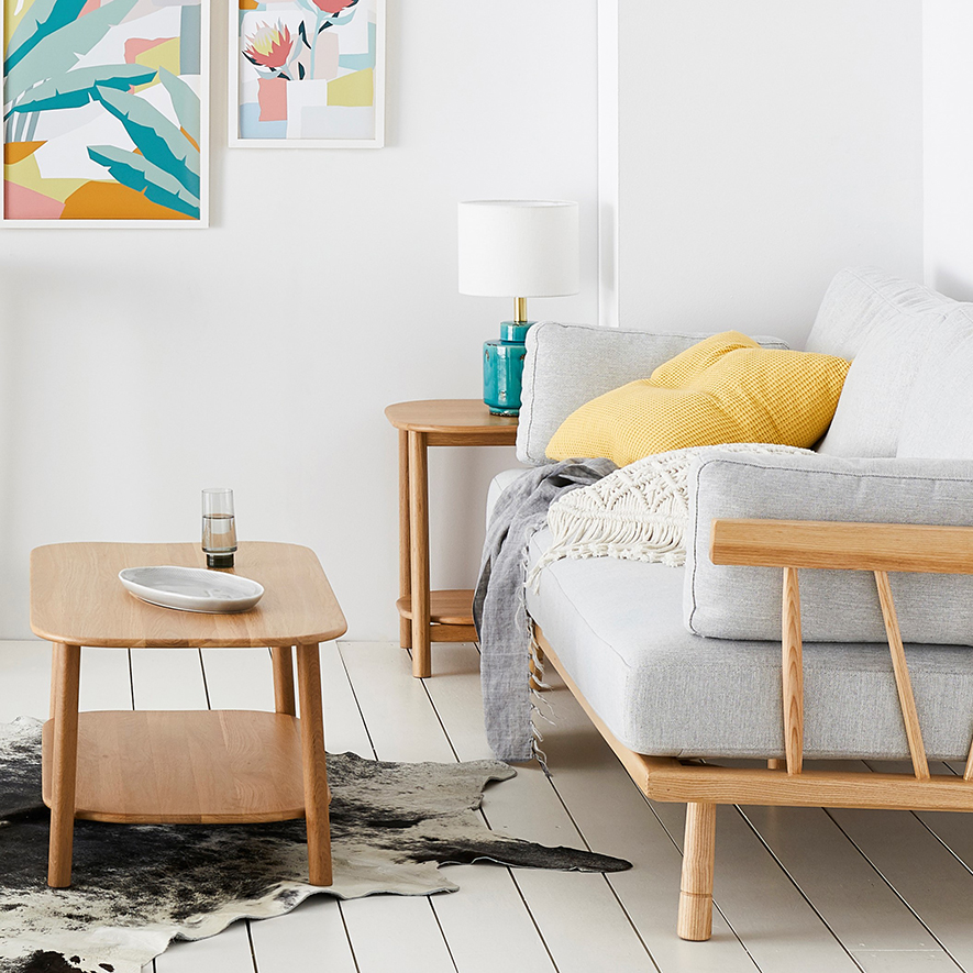 home republic brae solid oak side table furniture side tables adairs onlline
