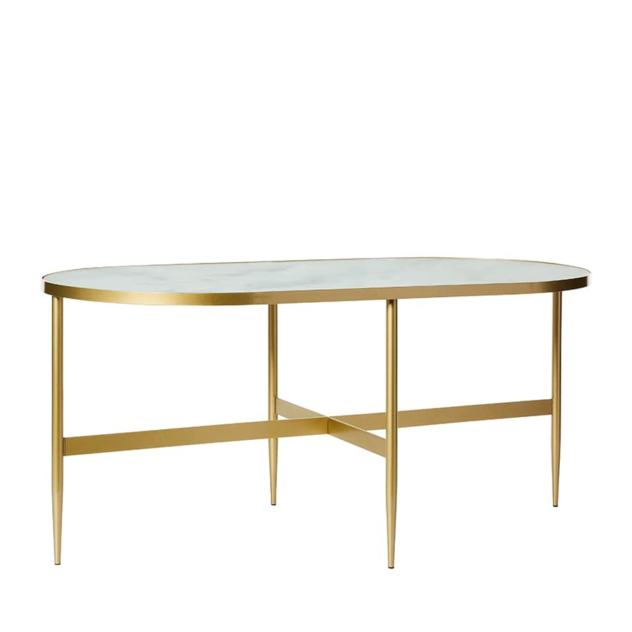 Glass Coffee Tables New Zealand: Oslo Gold Marble Coffee Table