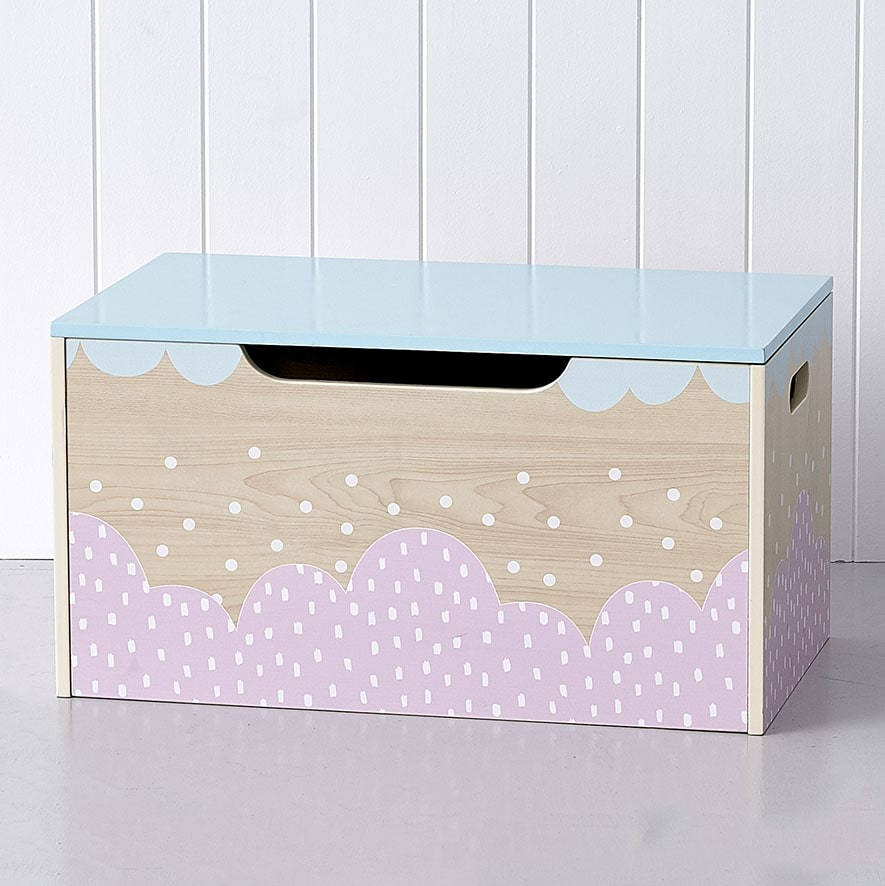 Carnival Toy Box Pink: Belle Pink Timber Toy Box