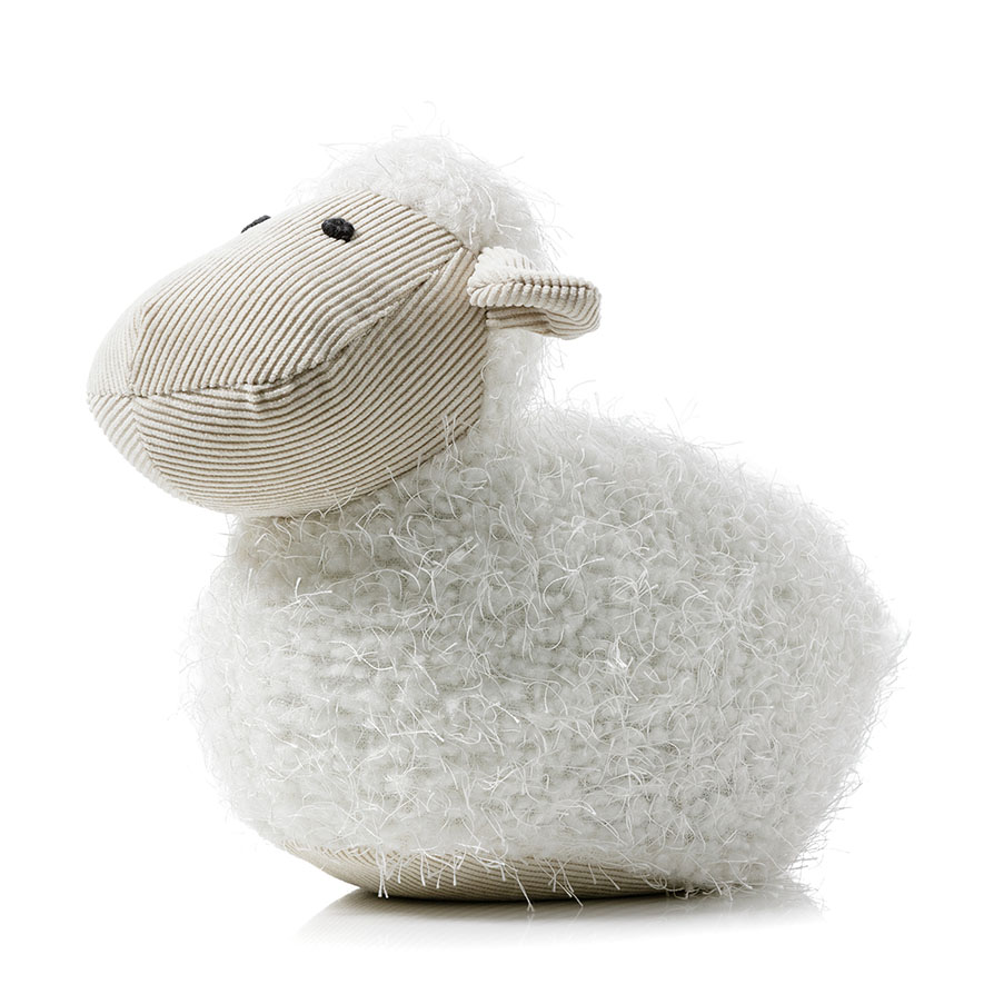 Adairs Kids Plush Animal Door Stop White Sheep Home Gifts