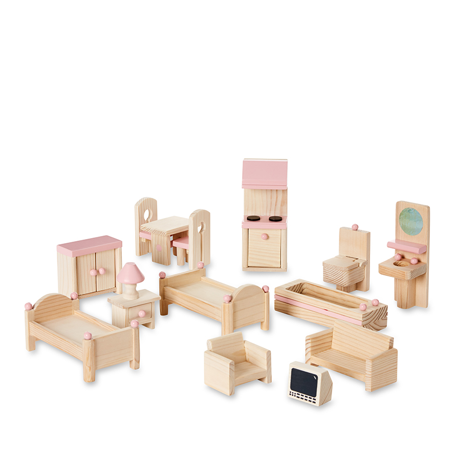 Adairs Kids Cambridge Doll House Furniture Set