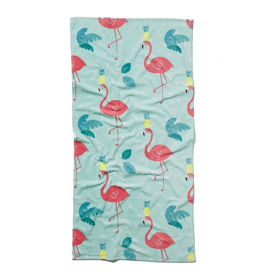 Adairs Kids Printed Beach Towel Flamingo Home Amp Gifts