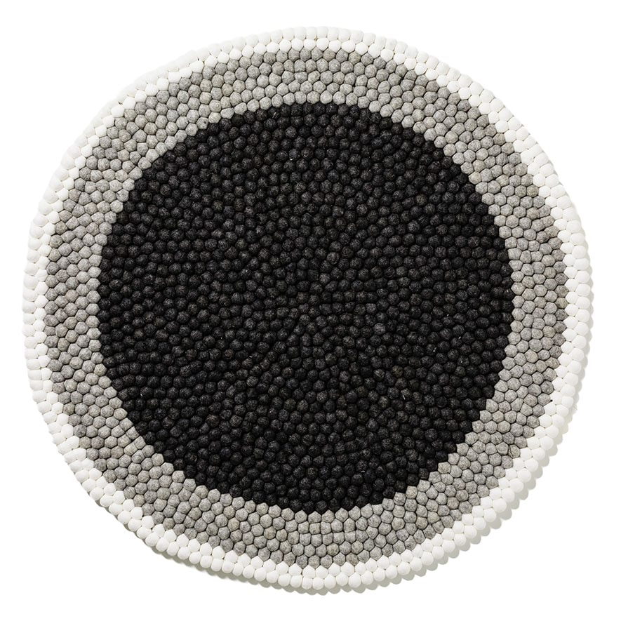 Adairs kids grey banded round freckle rug home gifts for Round rugs for kids