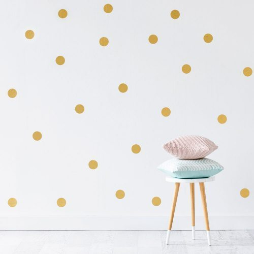 Gold Spots Removable Wall Stickers
