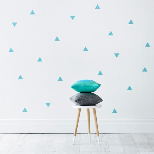 Mint Triangles Removable Wall Stickers