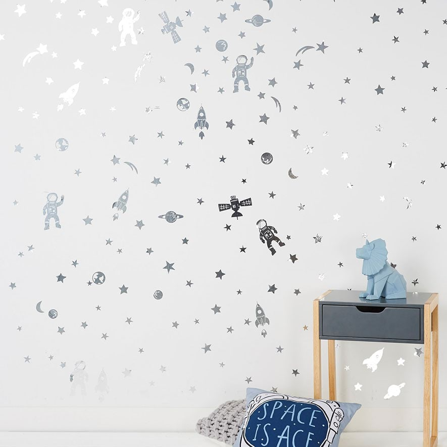 adairs kids - spaceman removable wall stickers - home & gifts - wall