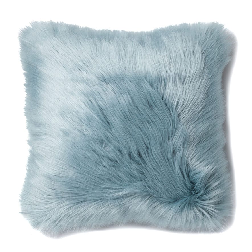 Save 50 On Faux Fur Alpine Fur Cushion Ice Blue